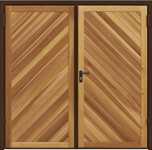Garador Chevron Cedar side hinged