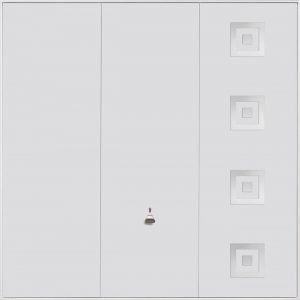 Garador Steel Design Range 203 Up & Over Garage Door in White