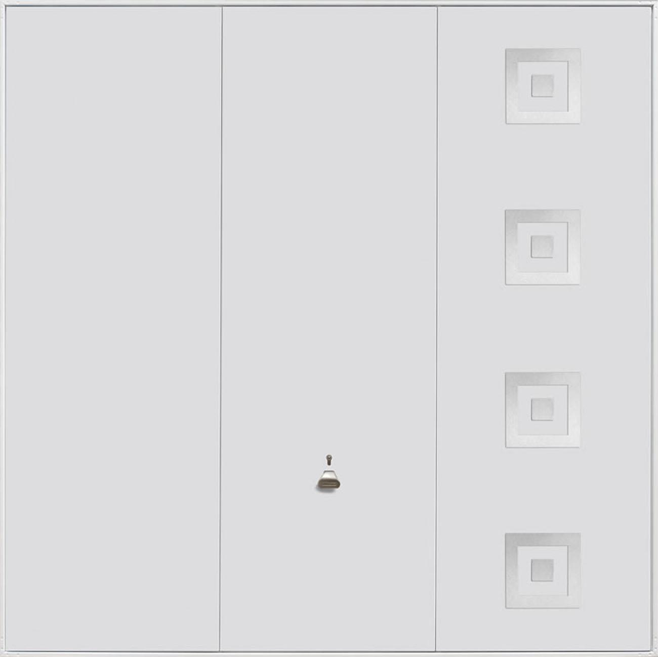 Garador Steel Design Range 203 Up & Over Garage Door in White