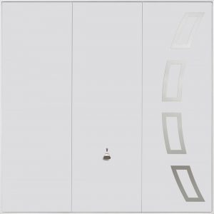 The Garador Steel Design Range 204 Up & Over Garage Door in White