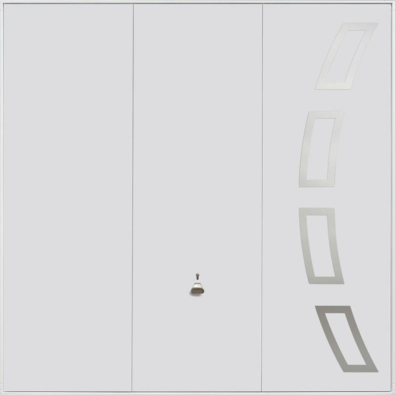 The Garador Steel Design Range 204 Up & Over Garage Door in White