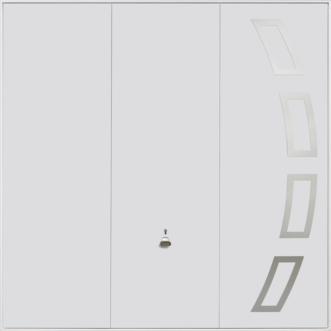 Garador Steel Design Range 205 Up & Over Garage Door in White