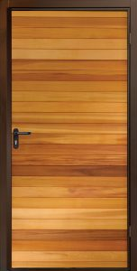 Garador Horizontal Cedar Side Door