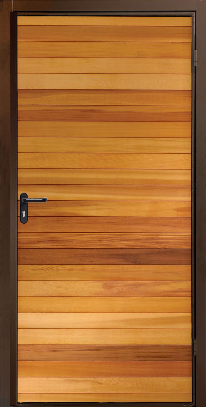Garador Horizontal Cedar Side Door