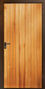 Garador Vertical Cedar Side Door